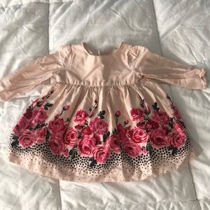Baby girl Baby GAP pink floral dress